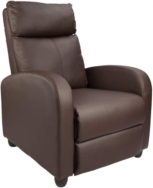 Homall Recliner Chair Padded Seat Pu Leather for Living Room Single Sofa Recliner